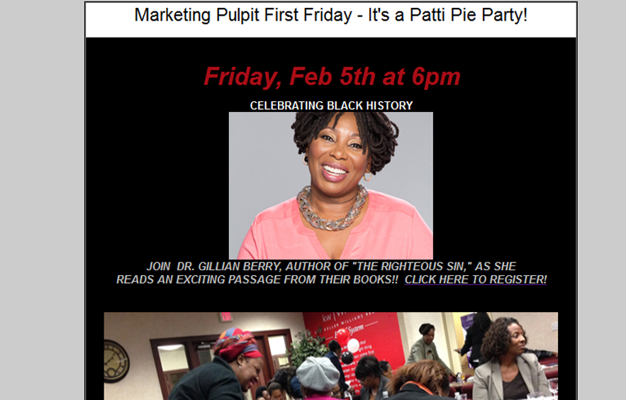 First Friday Email Blasts