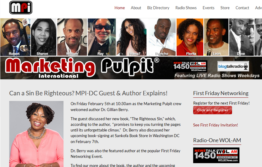 Featured on Website